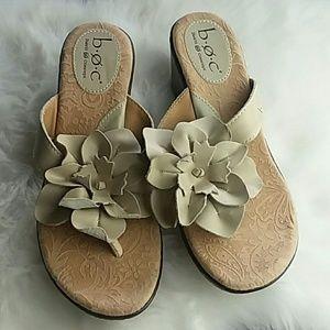 B.o.c leather floral sandals